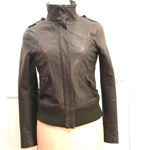 MNG Genuine Leather Jacket Small